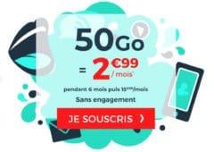 soldes ete 2020 forfait cdiscount mobile 50 Go
