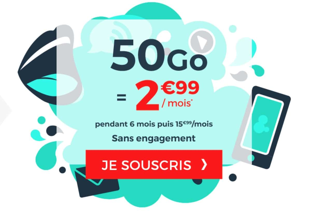 forfait cdiscount mobile 50 Go pas cher