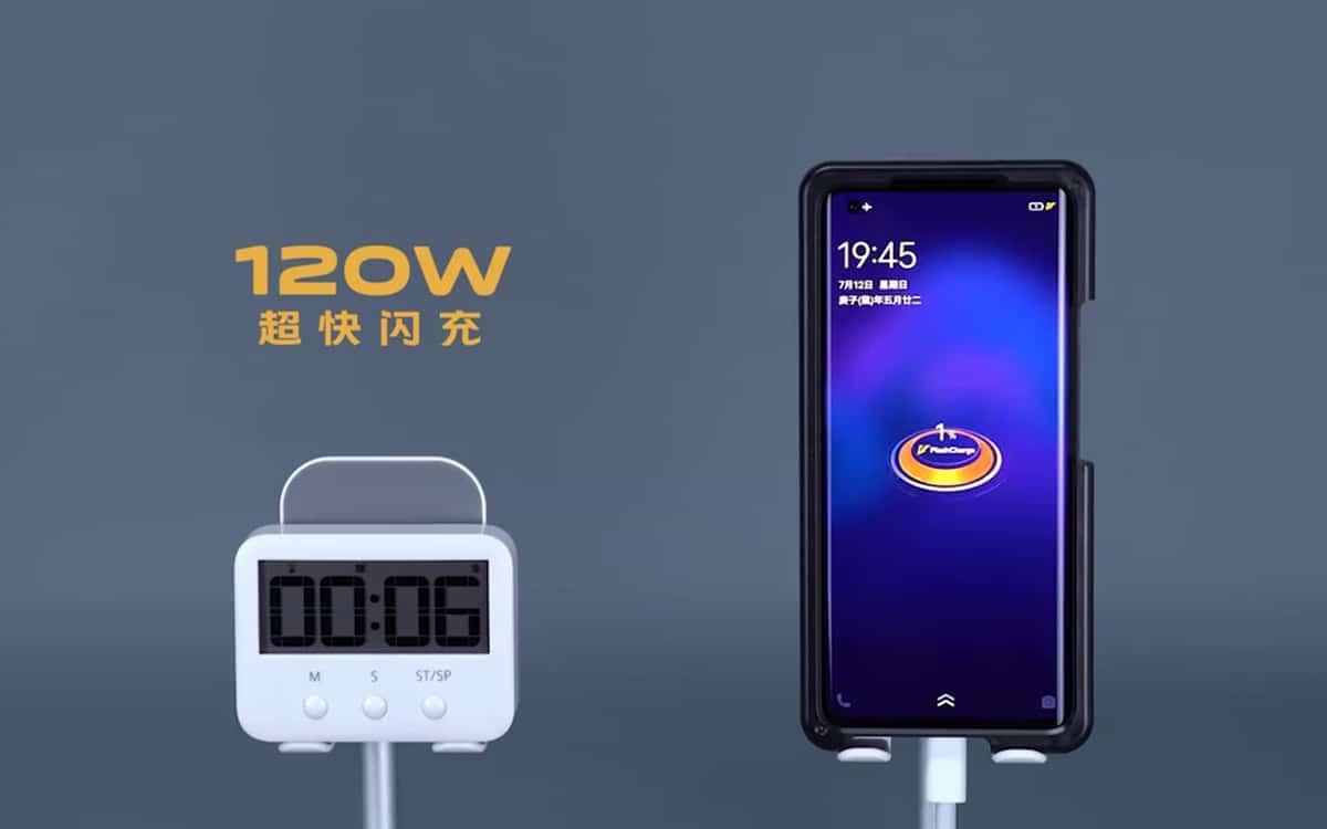 vivo flashcharge 120w recharge rapide