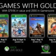 xbox games with gold jeux offerts août 2020