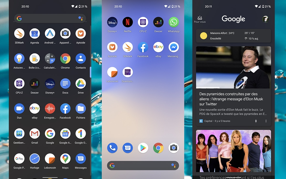 Google Pixel 4a screenshots