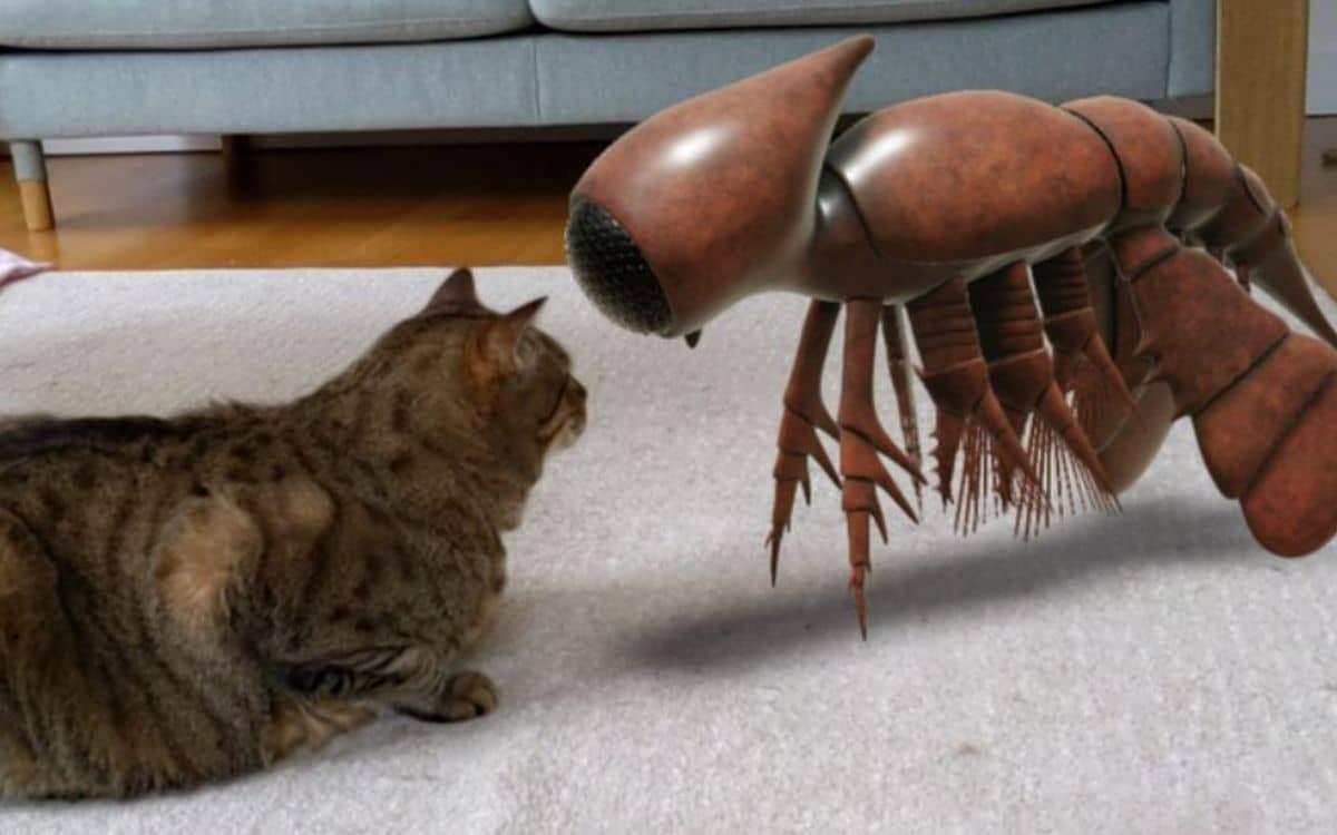 Un animal préhistorique en AR