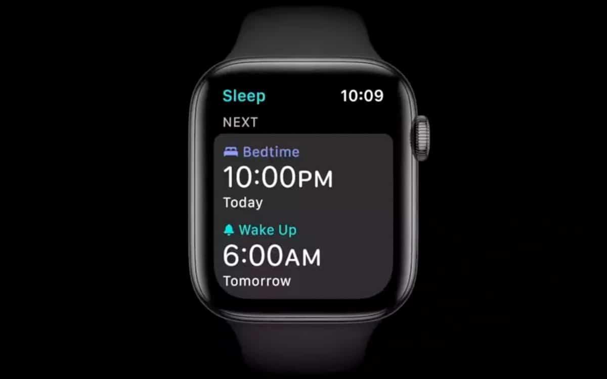 watchOS 7 suivi du sommeil