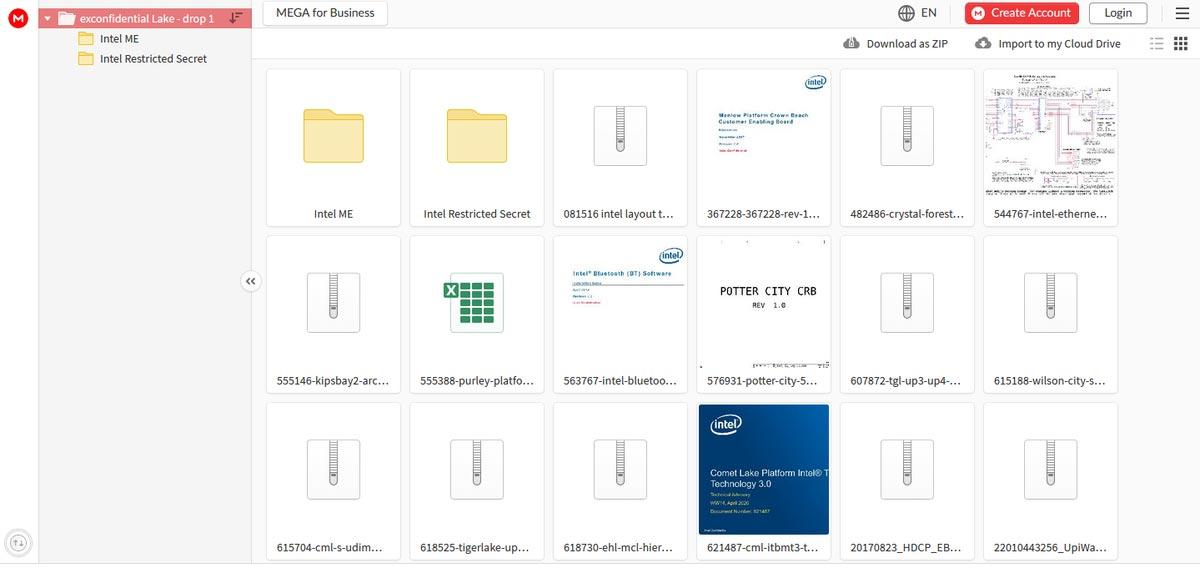 Intel : fuite de données
