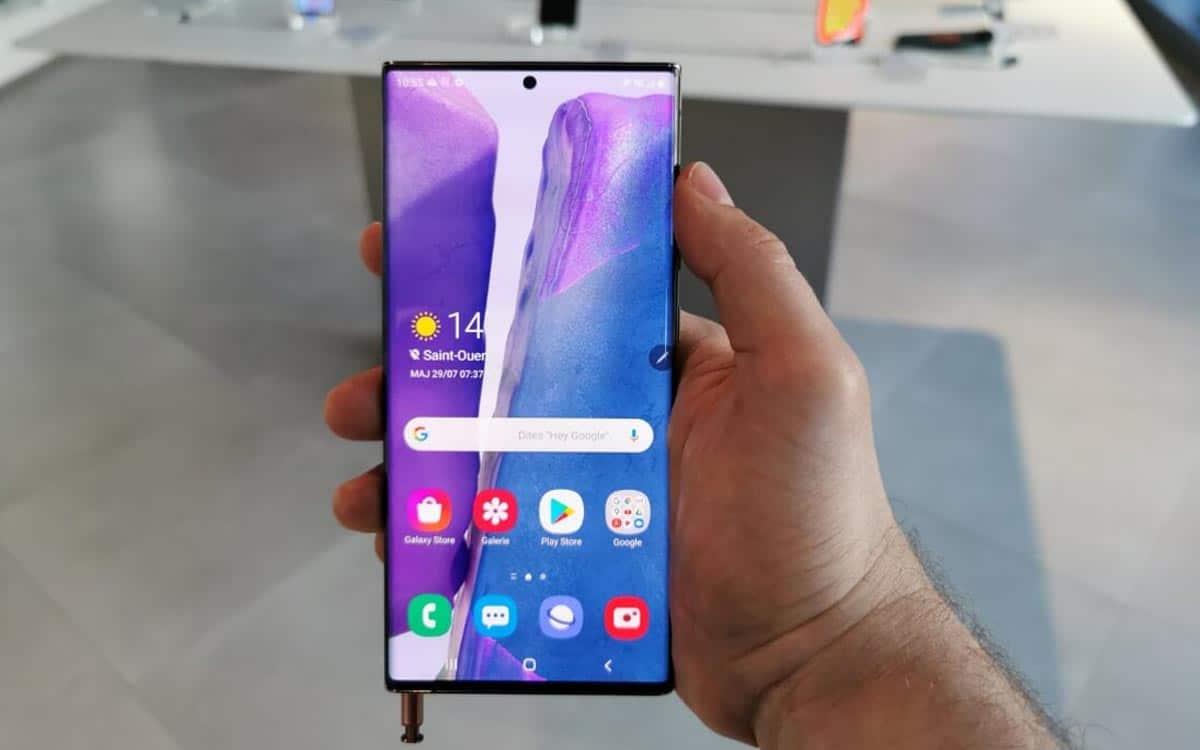 L'écran du Galaxy Note 20