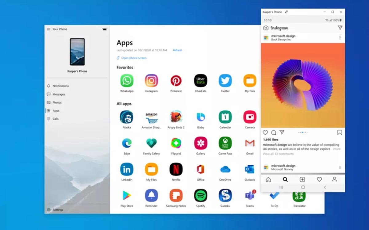 Windows 10 : applications Android