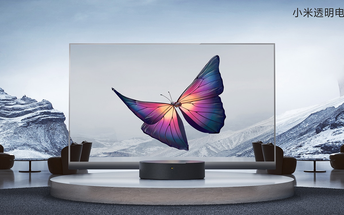 "Xiaomi launches a fully transparent 55 ""OLED TV at € 6,000"