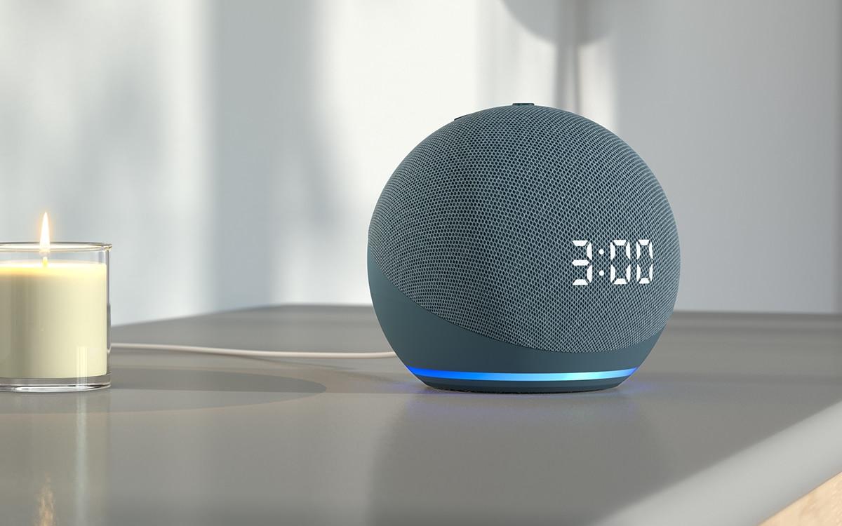 Amazon Echo Dot avec horloge