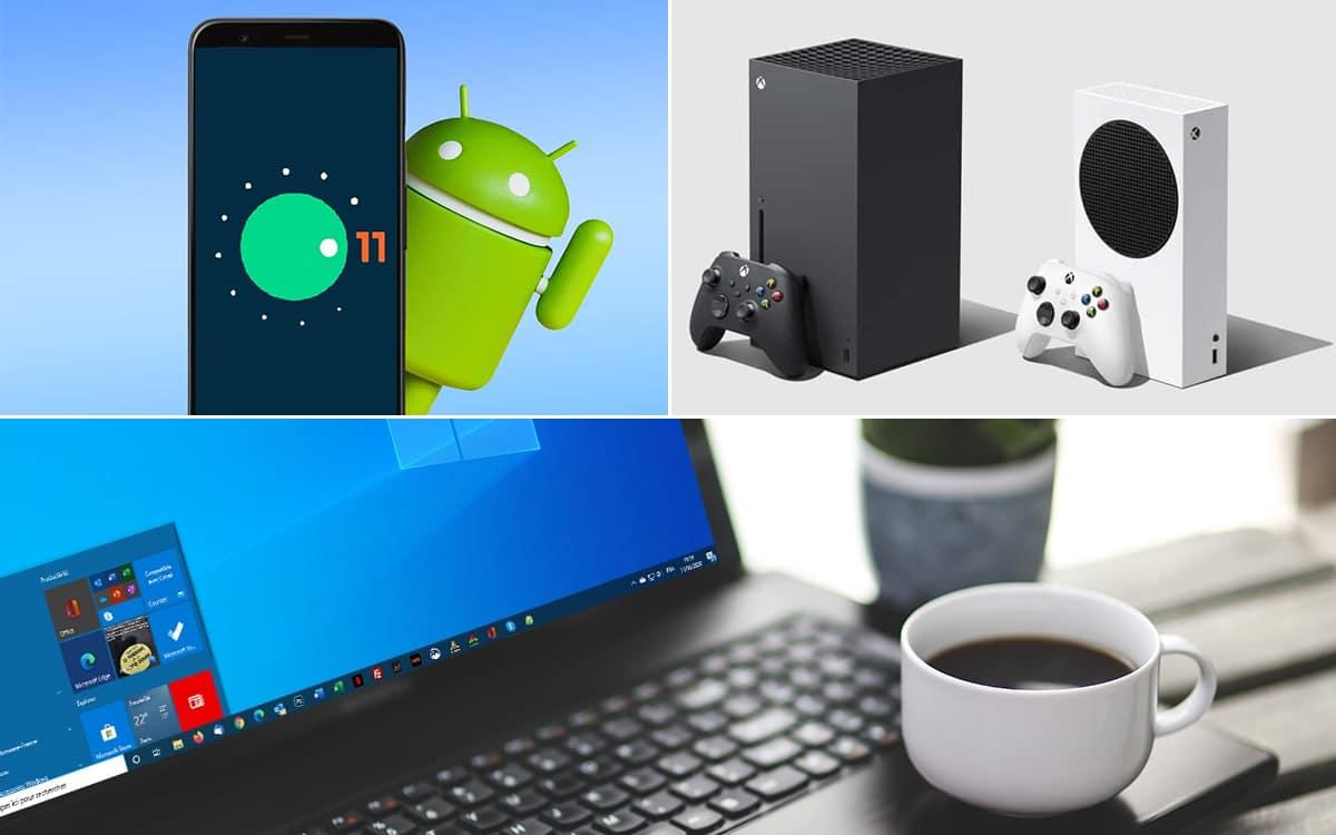 Android 11 Xbox Series X PC Windows 10