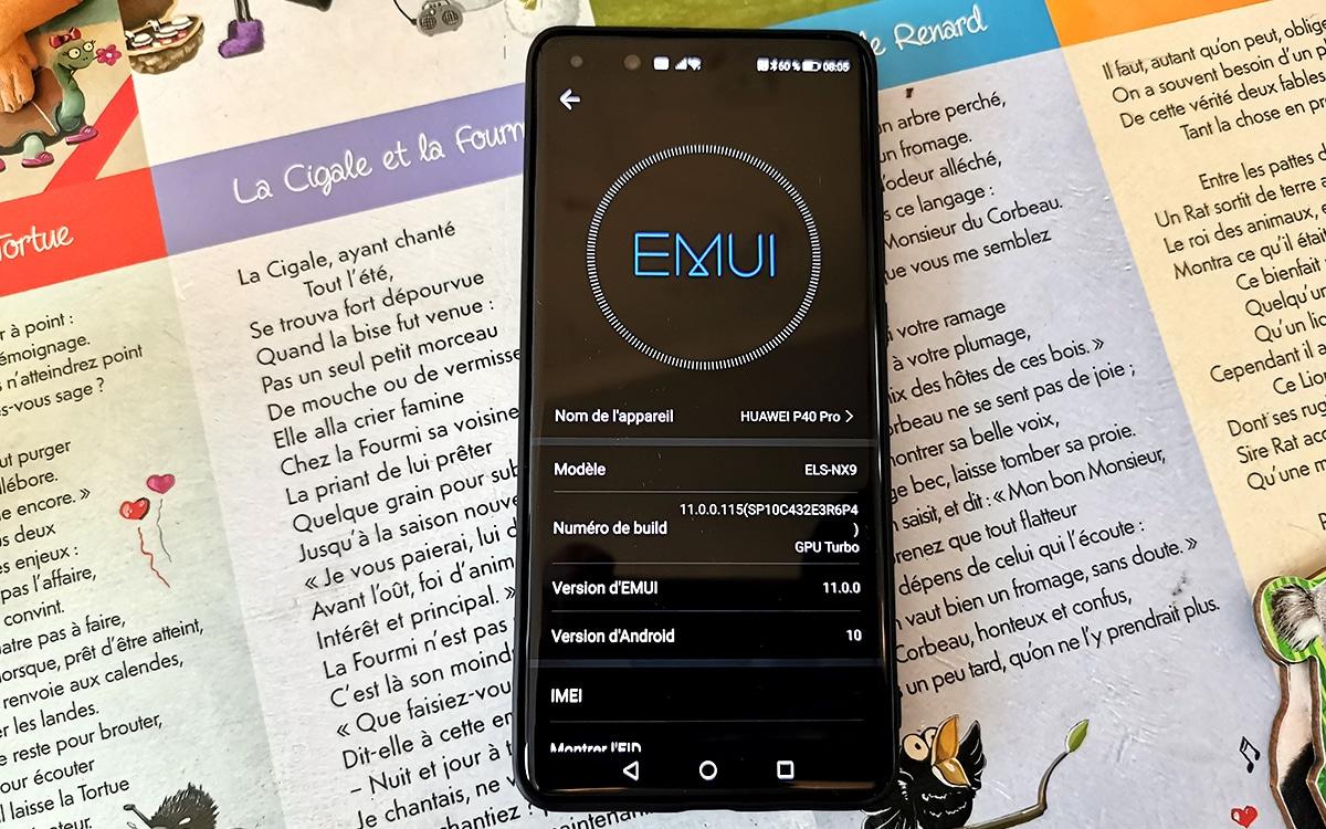 EMUI 11 Huawei P40 Pro