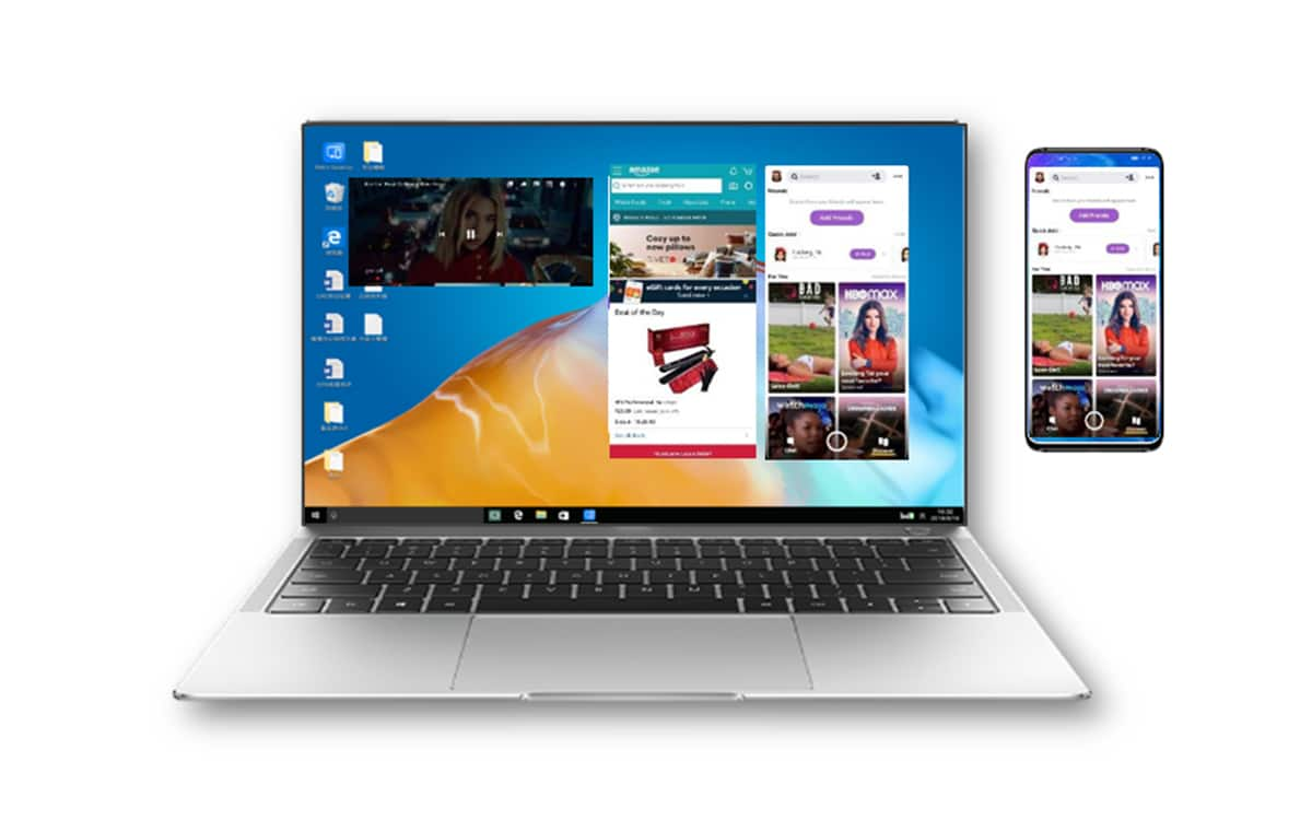 EMUI 11 display on multi-screen PC