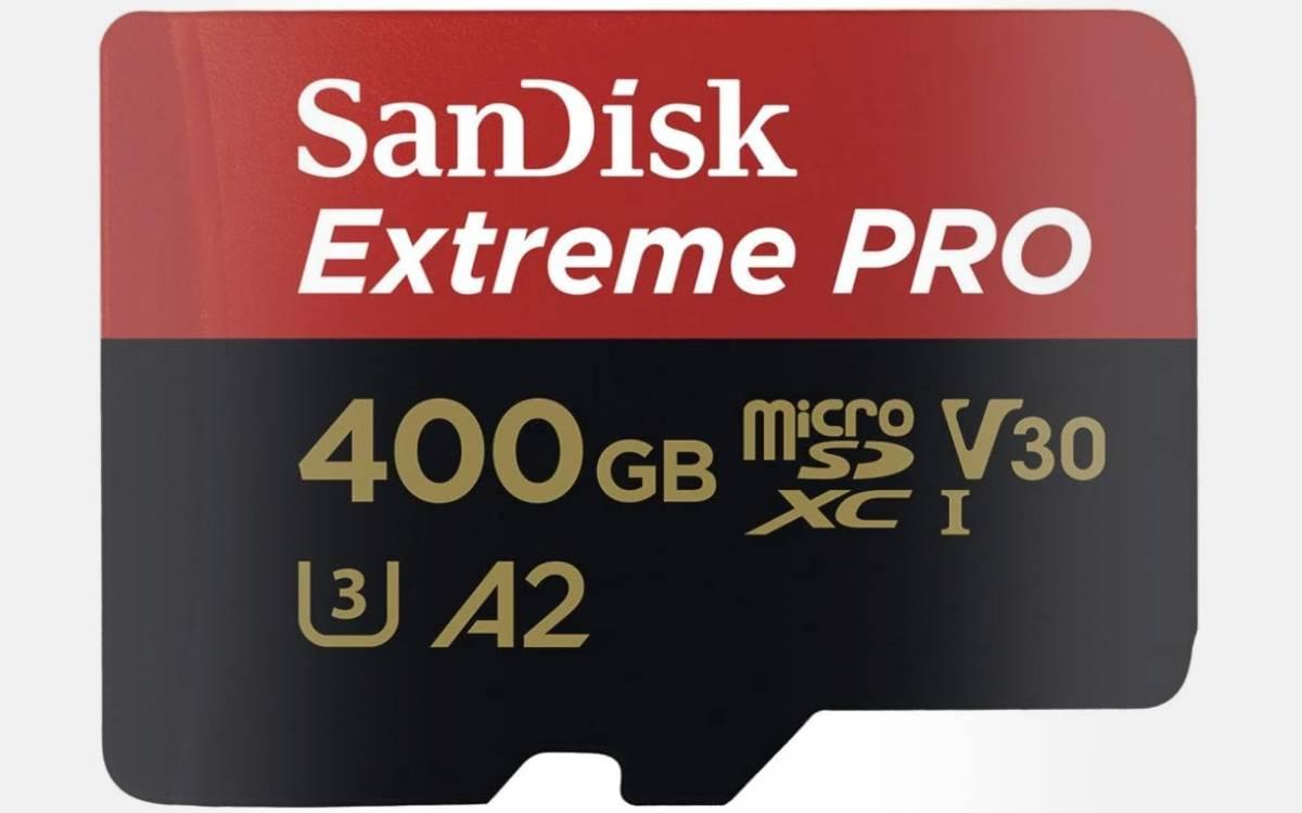 carte mémoire SanDisk Extreme Pro 400 Go pas chère