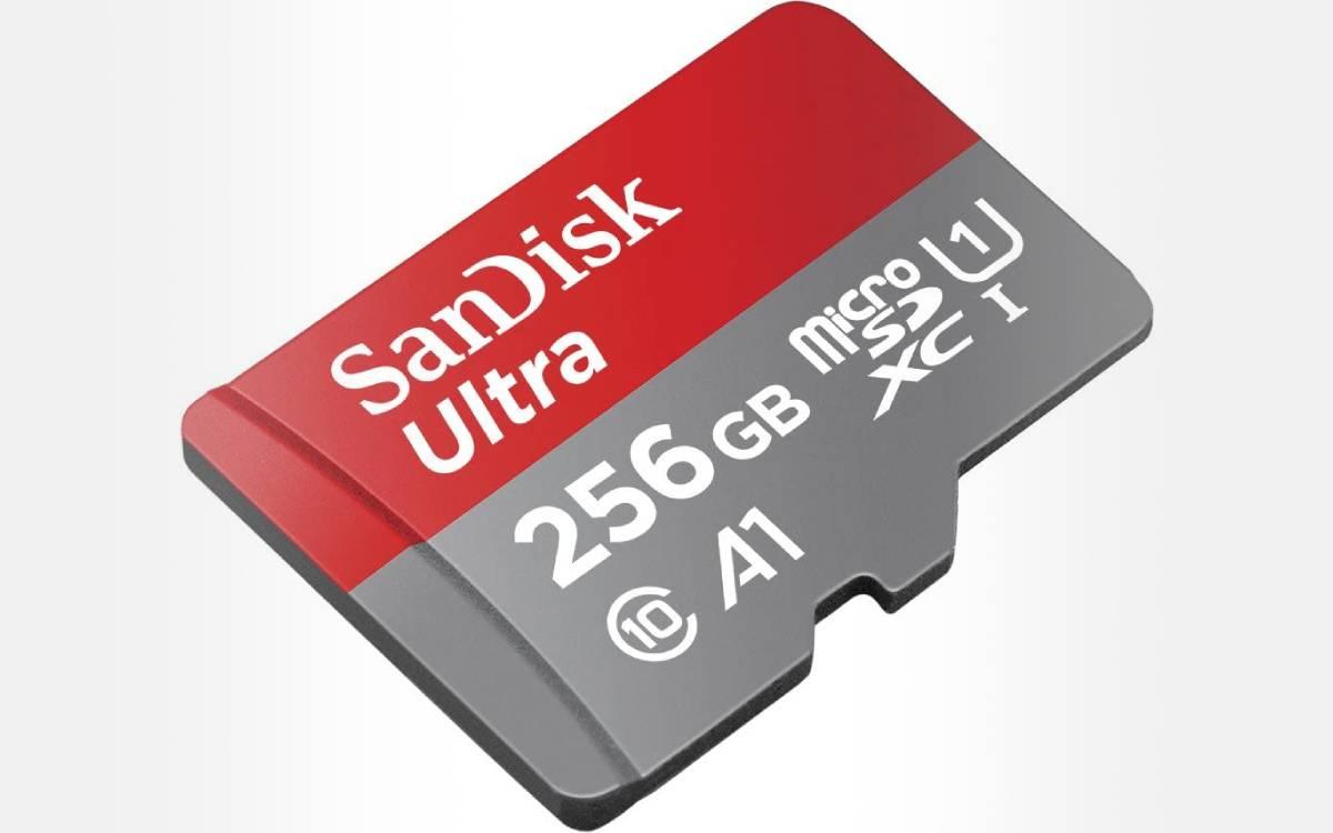 carte mémoire SanDisk Ultra 256 Go pas chère