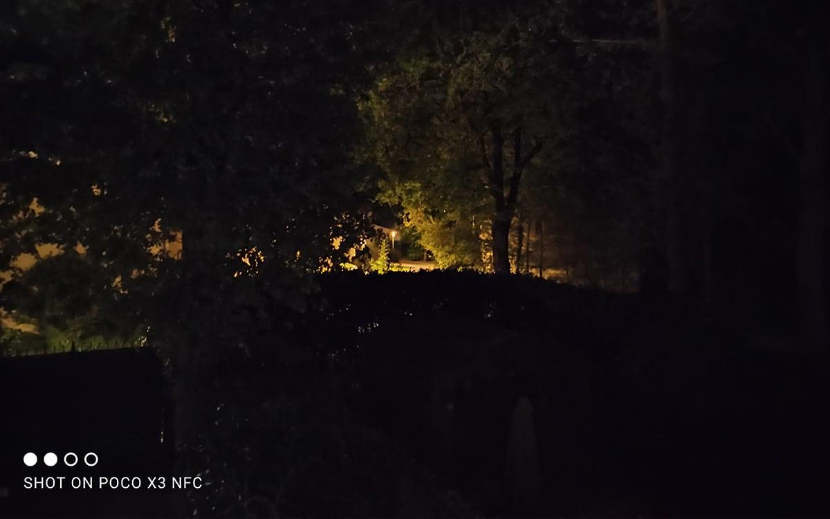 Xiaomi Poco X3 photo mode nuit