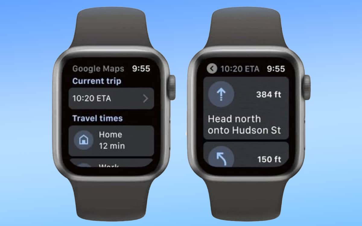 Apple Watch Google Maps retour Watch OS