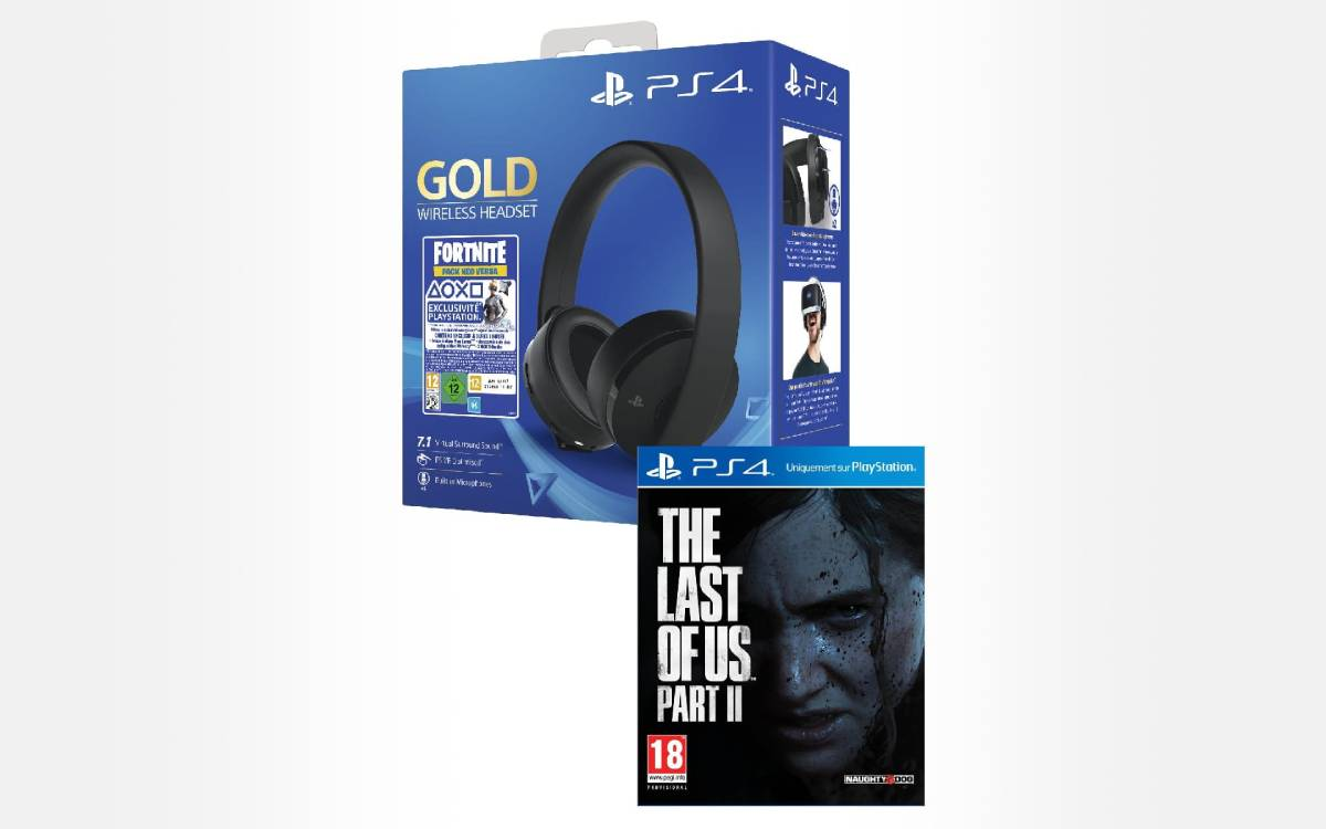 pack casque sans fil Gold Sony avec The Last of Us Part II