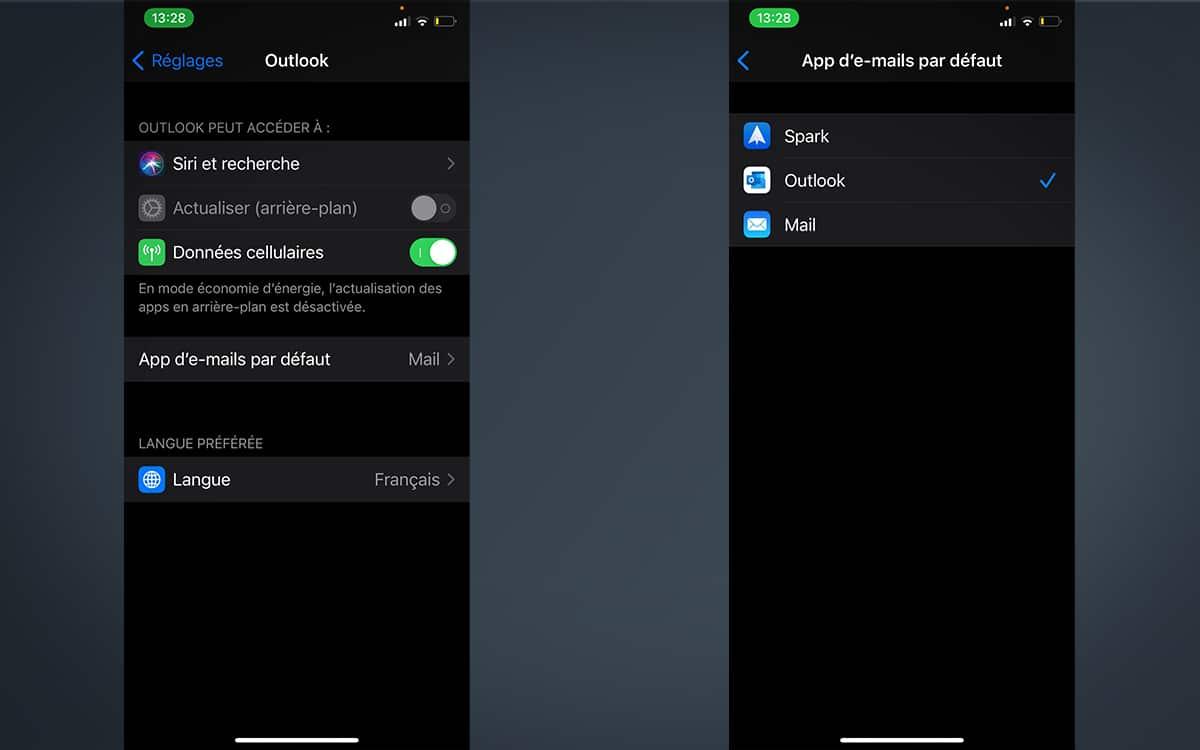 Comment remplacer l'application Mail par défaut dans iOS 14