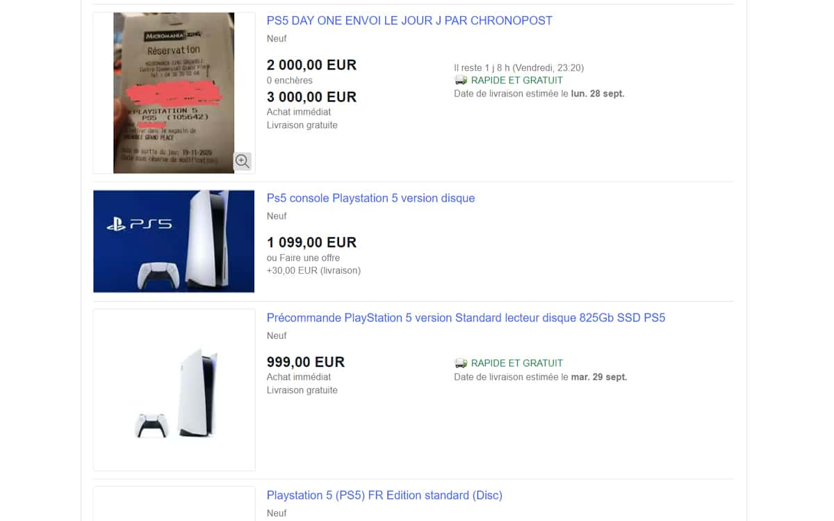 ebay speculation ps5