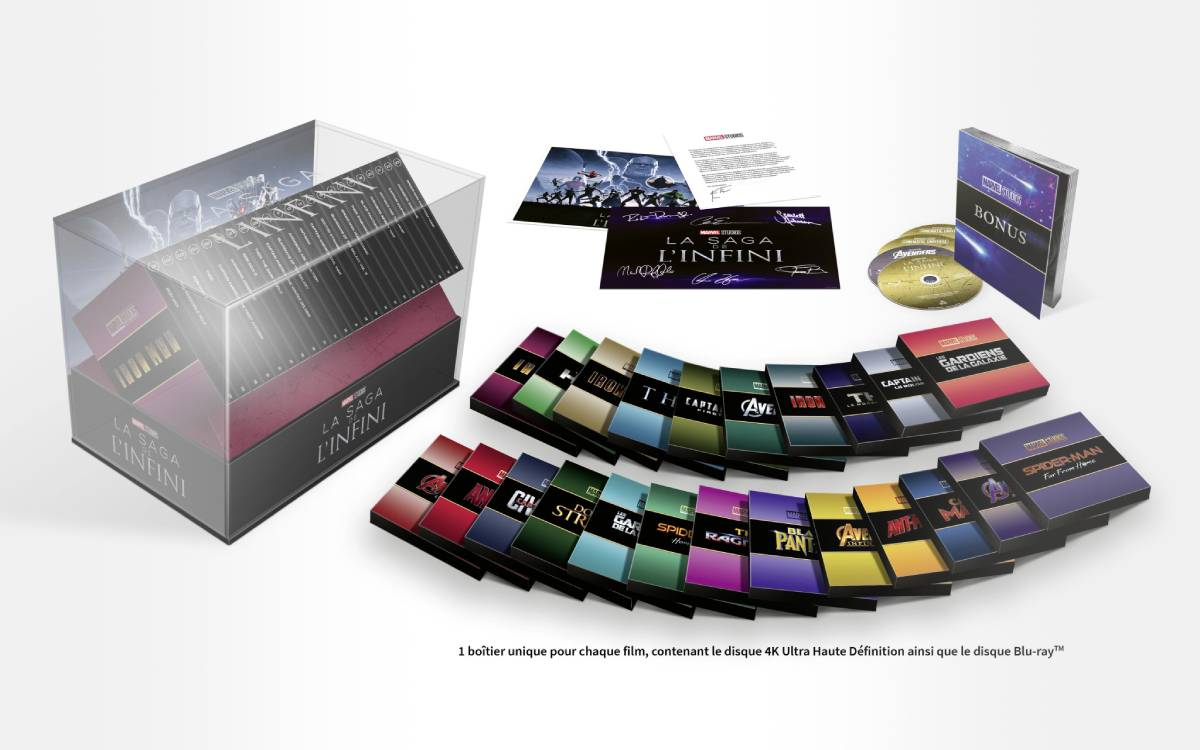 films Marvel en coffret collector blu-ray 4K Ultra HD