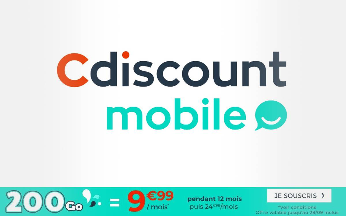 forfait cdiscount mobile pour les french days 2020