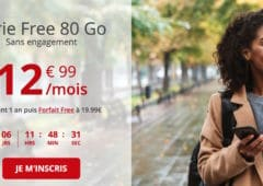 forfait free mobile 80 Go french days
