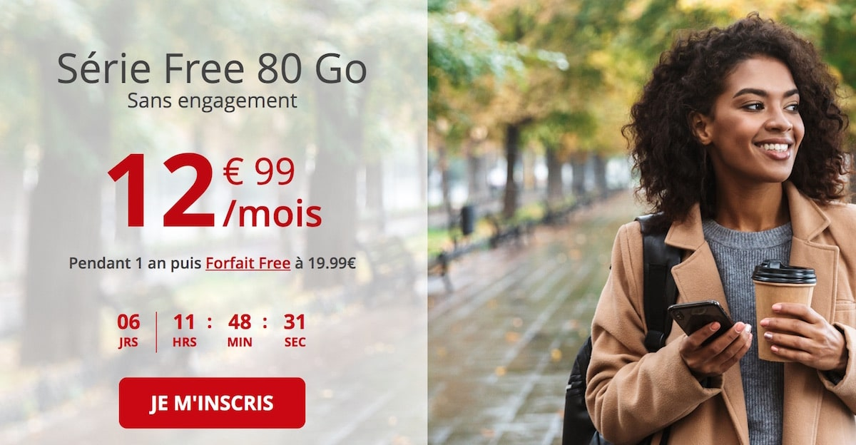 80 GB free mobile package for the french days