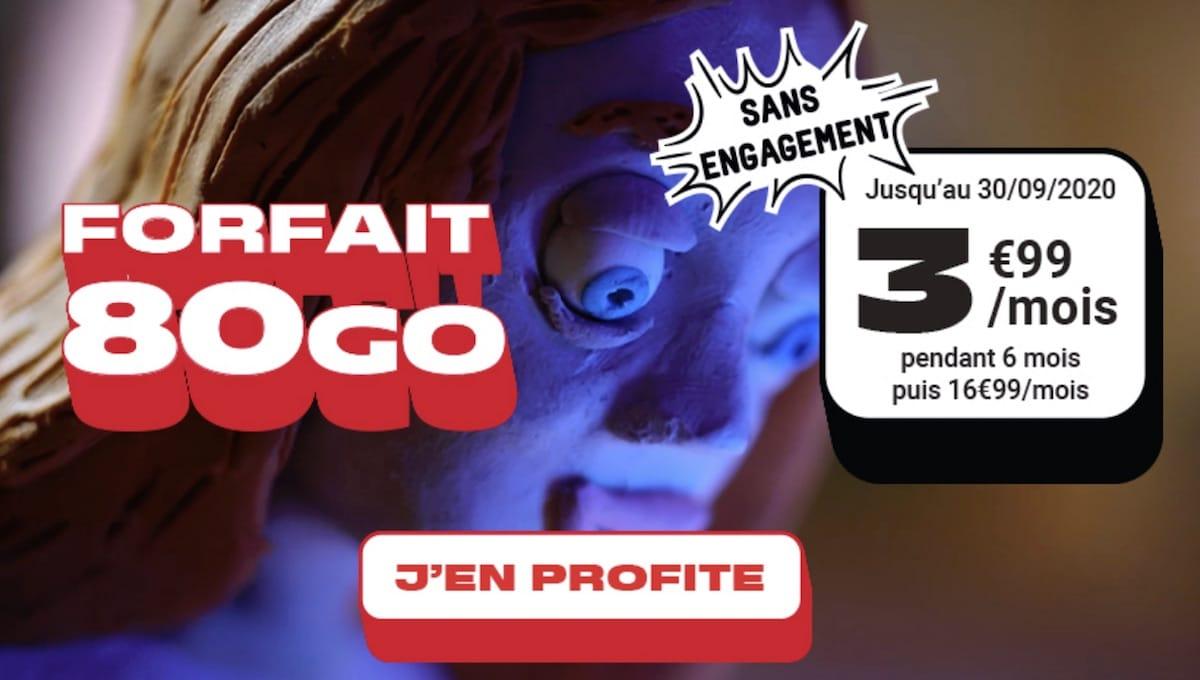 forfait nrj mobile 80 Go pour les french days