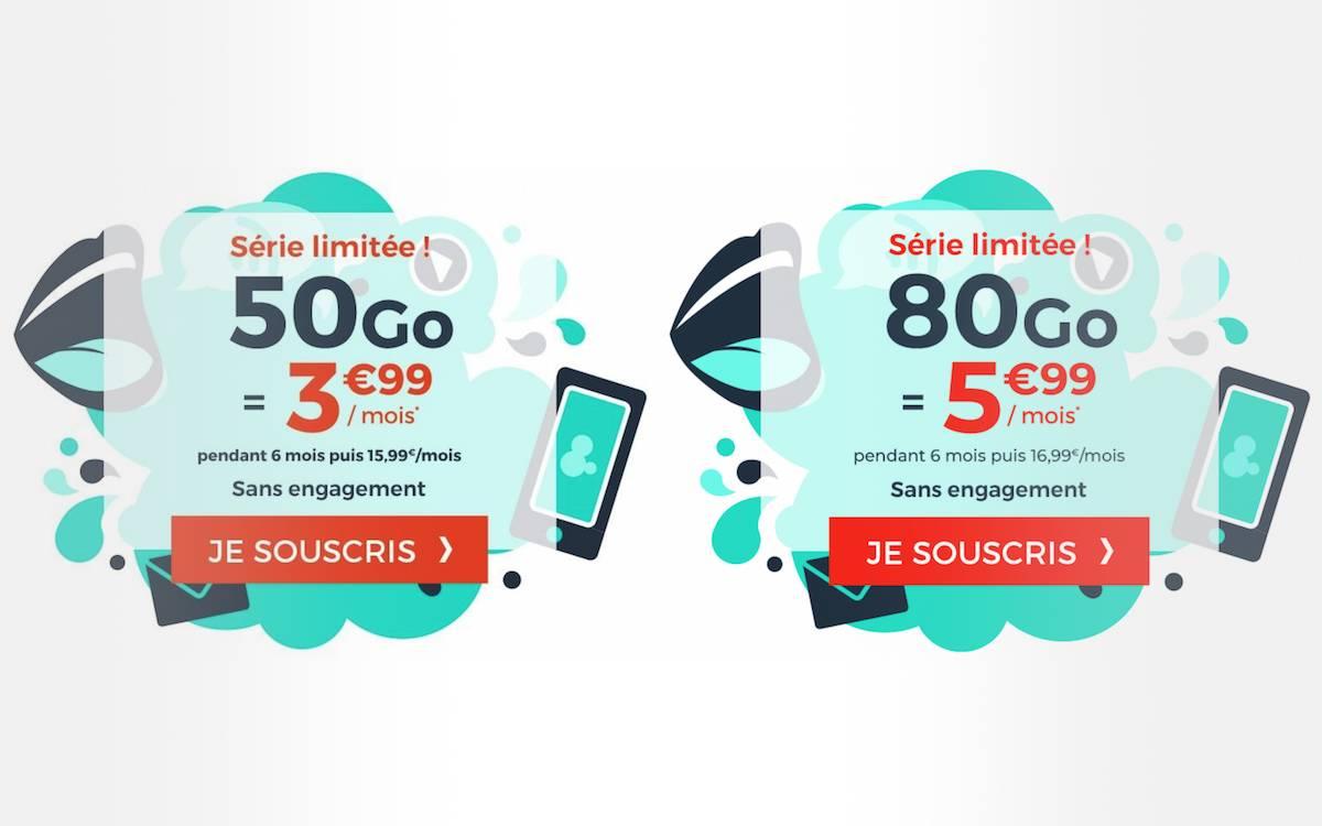 forfaits cdiscount mobile 50 et 80 Go pas chers