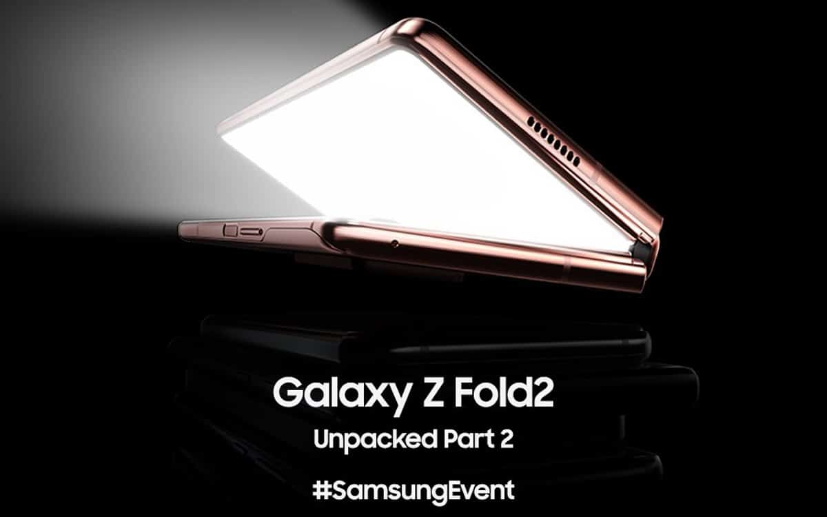 galaxy z fold 2 comment suivre présentation unpacked 1er septembre