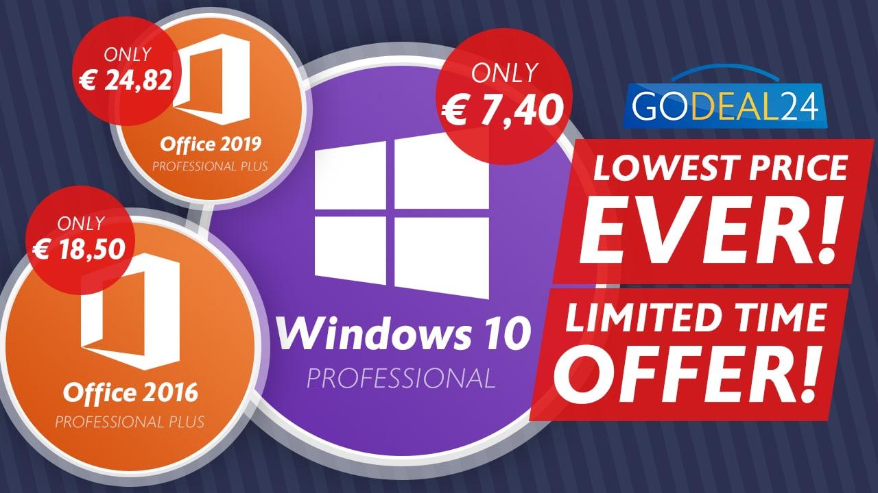 Bon plan Windows 10 GoDeal24.com