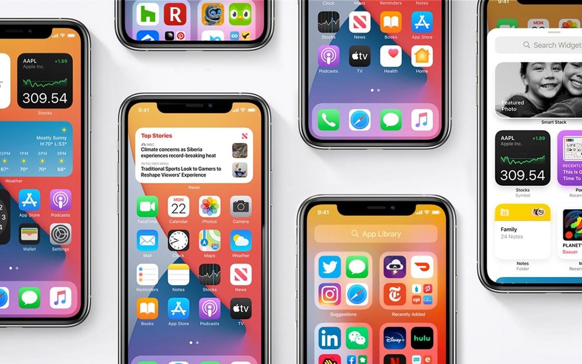iOs 14 applications apr défaut