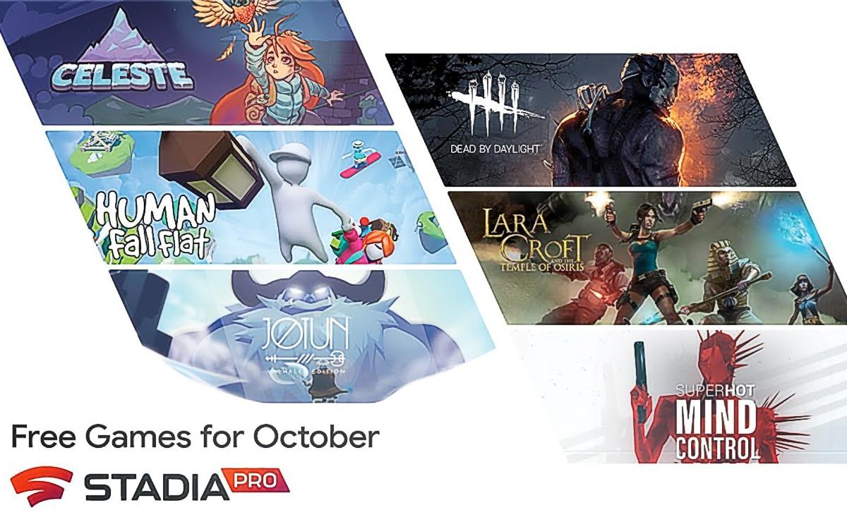 Stadia Pro jeux octobre