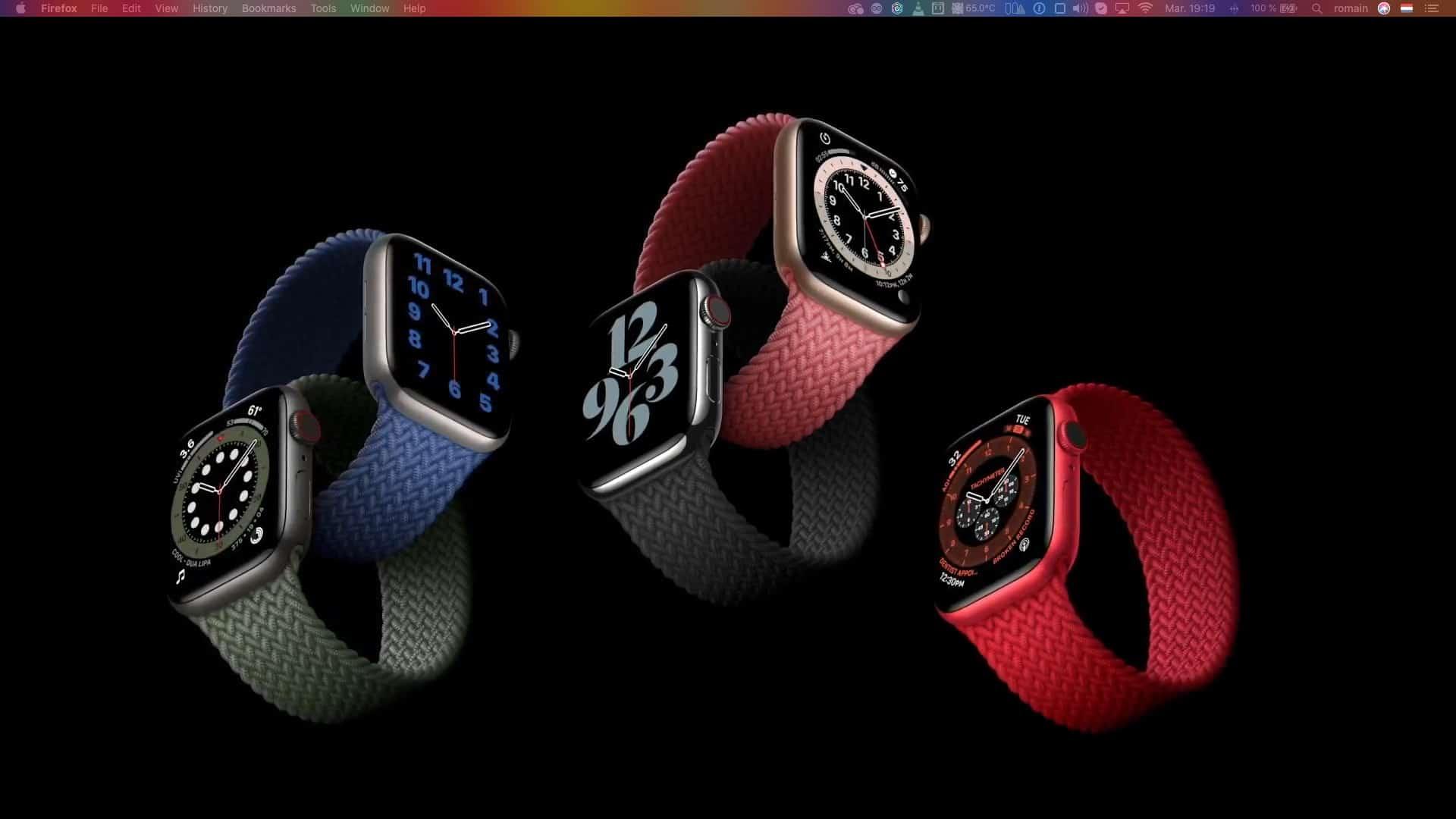 Apple Watch Series 6 modeles avec bracelets