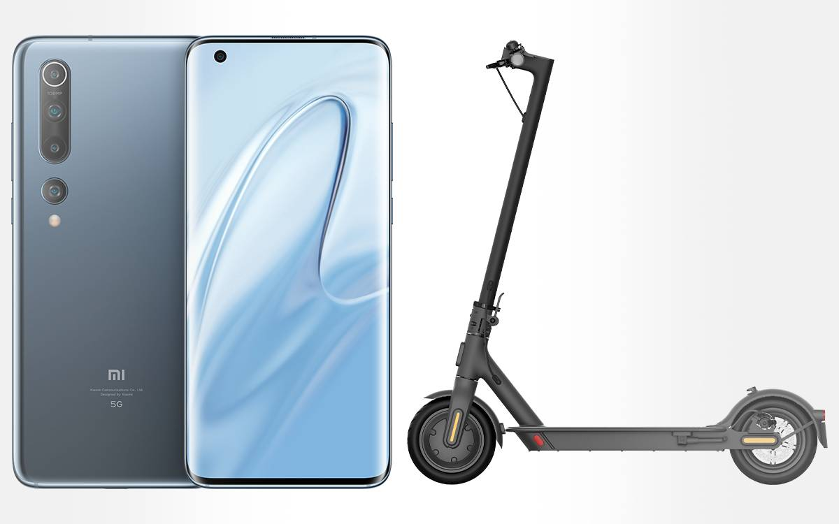 Pack Xiaomi smartphone Mi 10 Mi avec trottinette Electric Scooter Essential