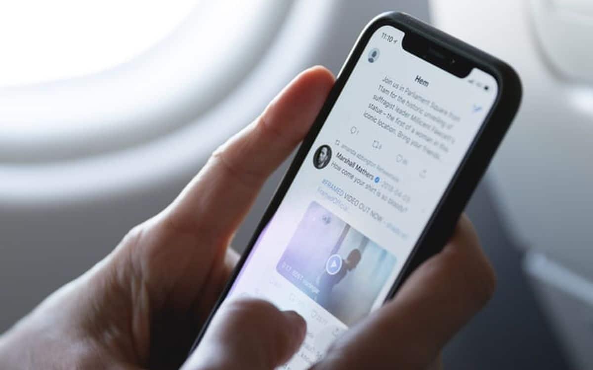 Twitter sur smartphone