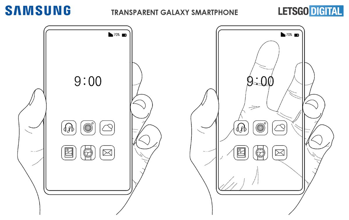 Samsung : brevet sur un smartphone transparent
