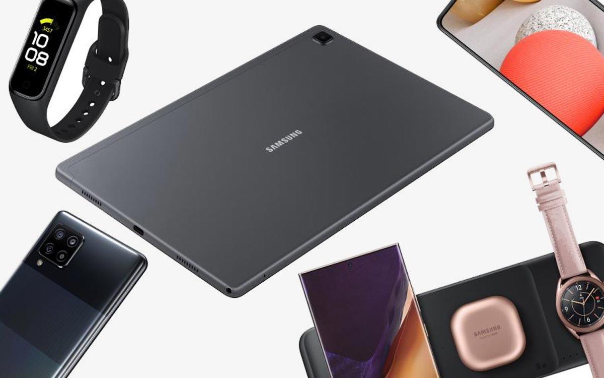 Samsung Galaxy A42 5G, Tab A7 et Galaxy Fit 2