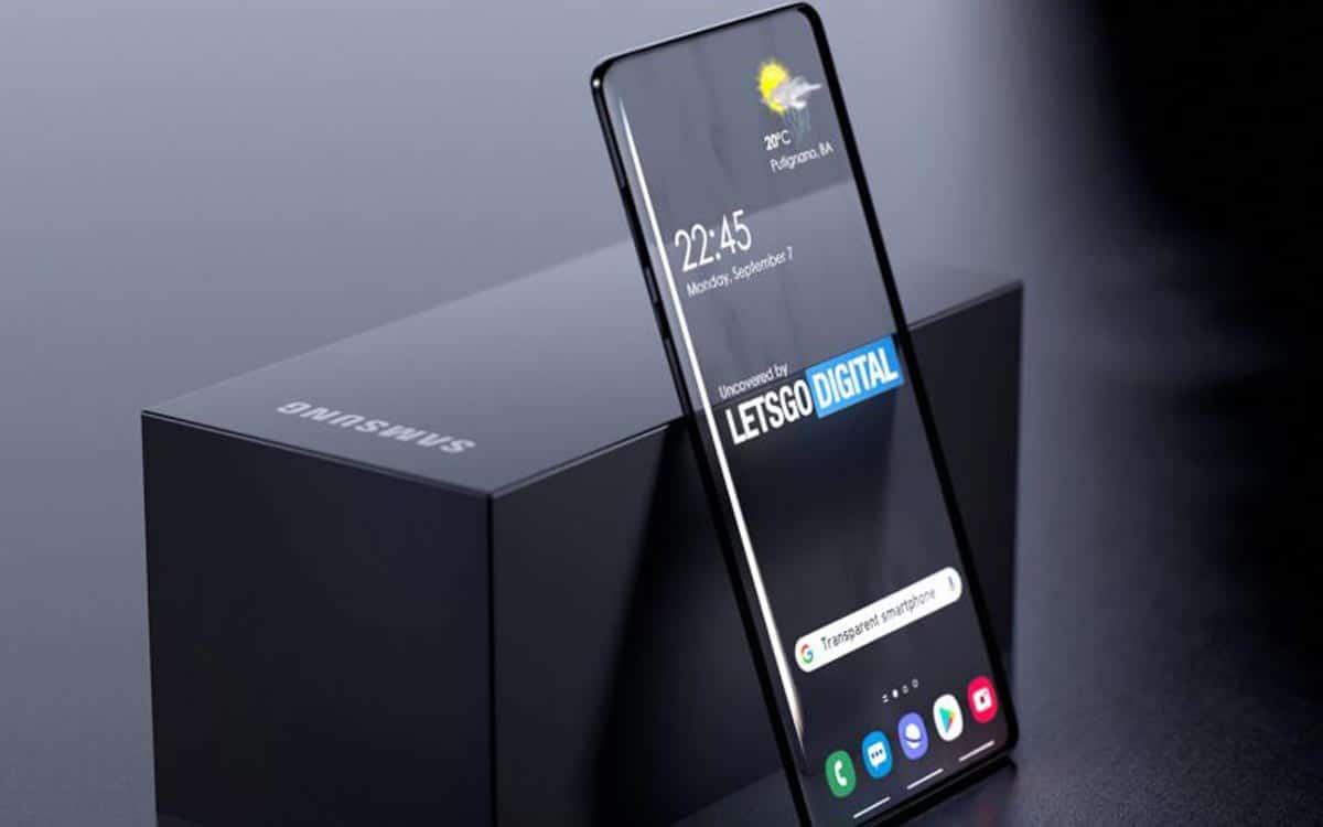 Samsung : smartphone transparent