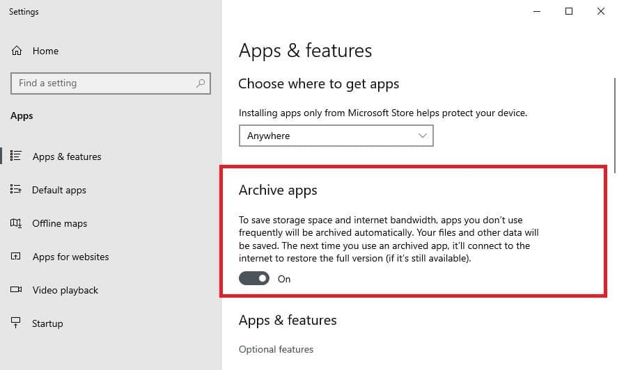 Désinstallation automatique des applications Windows 10