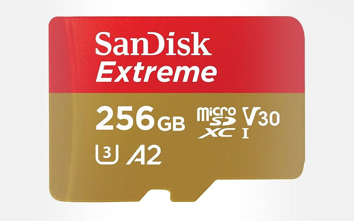 Carte micro SD Sandisk Extreme 256 Go