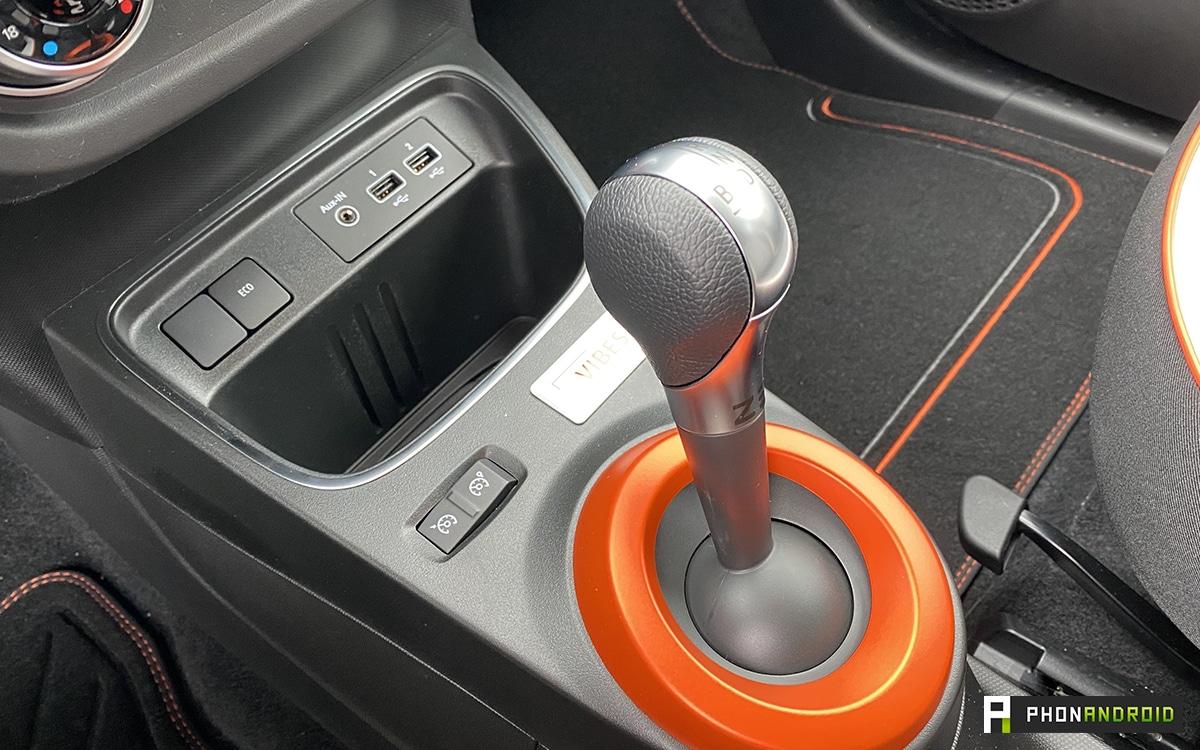 Renault Twingo Electric levier de vitesse