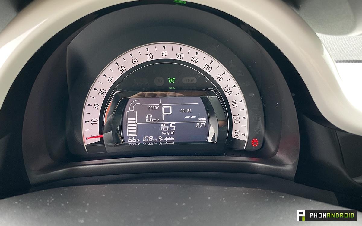 Renault Twingo Electric compteur vitesse