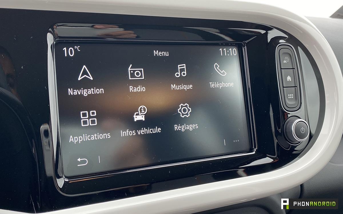 Renault Twingo Electric ecran tactile