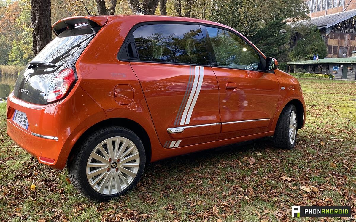Renault Twingo Electric vue arriere et de cote