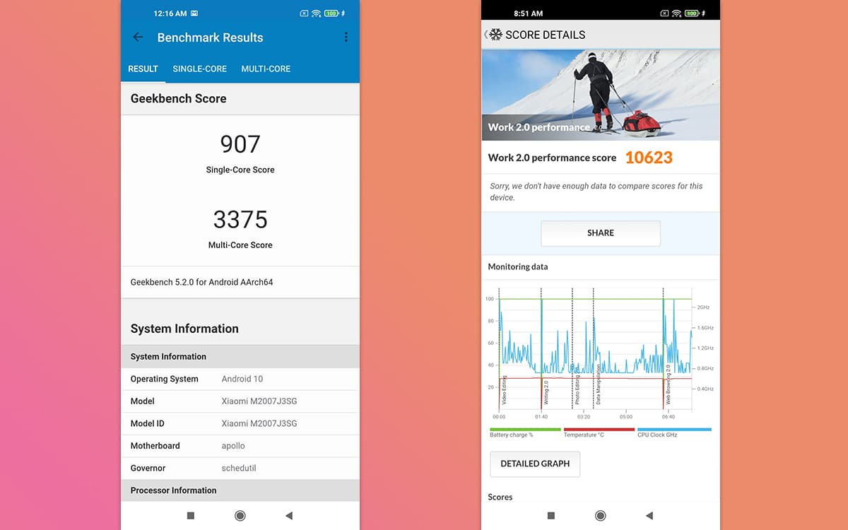 Xiaomi Mi 10T Pro Benchmark - Mi 10T Pro 5G test: neither good nor bad, on the contrary - PhonAndroid