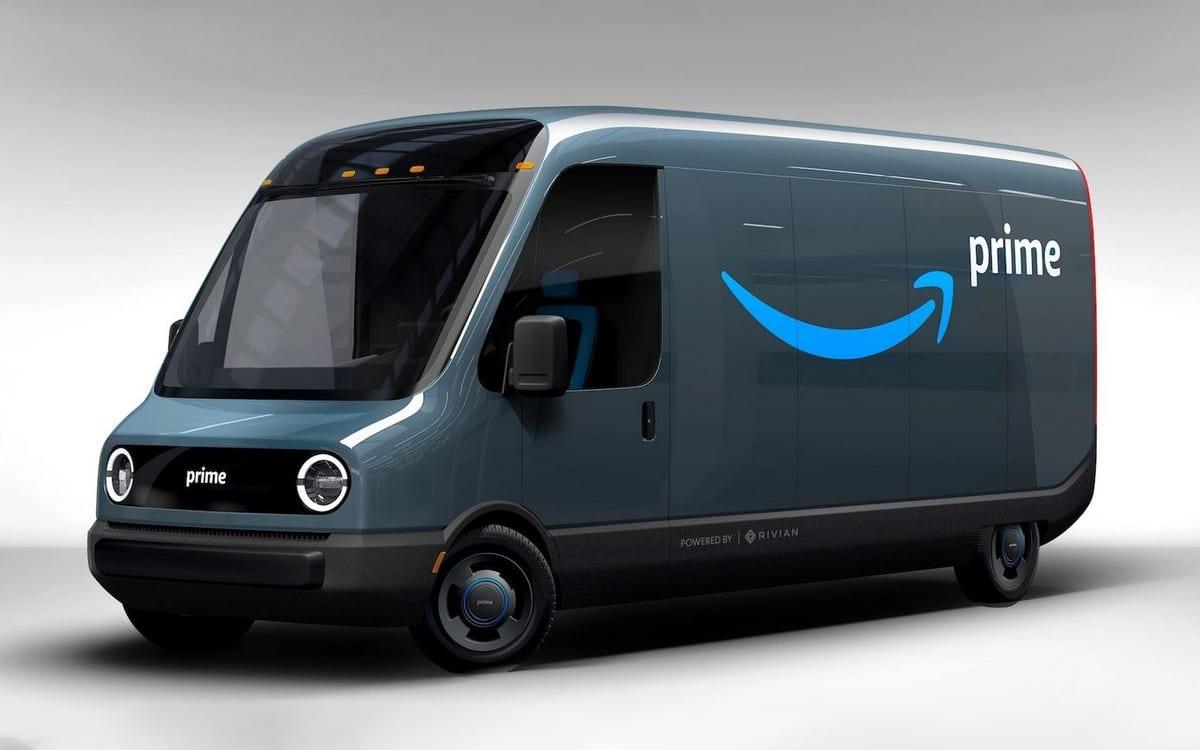 amazon rivian camion électrique livraison