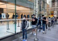 apple store file attente