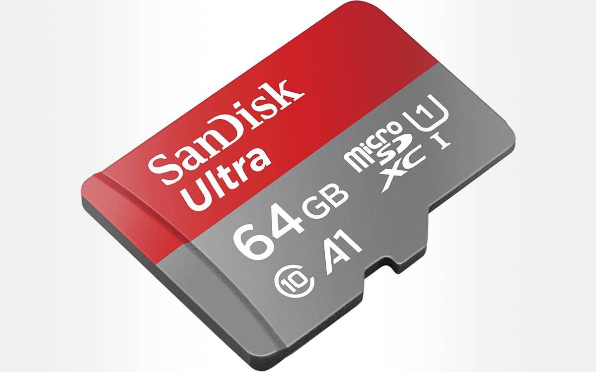 carte mémoire SanDisk Ultra 64 Go pas chère