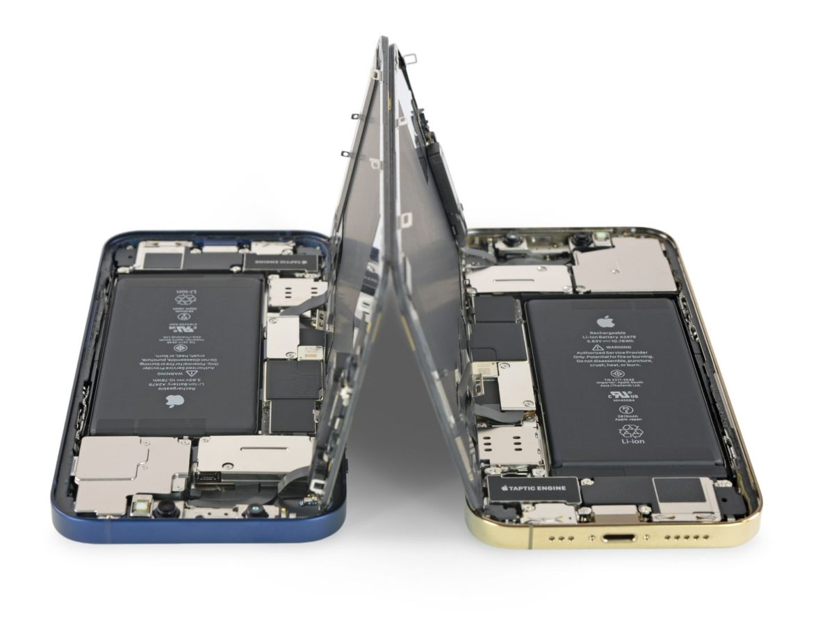 iPhone 12 iPhone 12 Pro comparaison iFixit