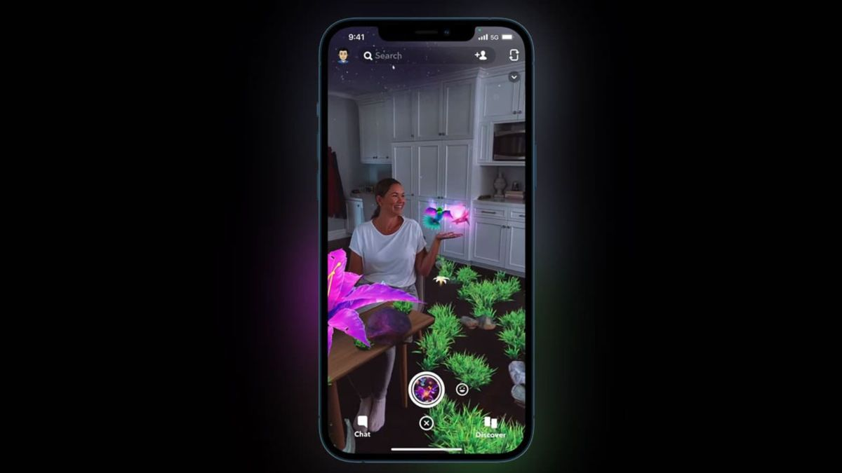 filtre Snapchat capteur LiDAR iPhone 12 Pro